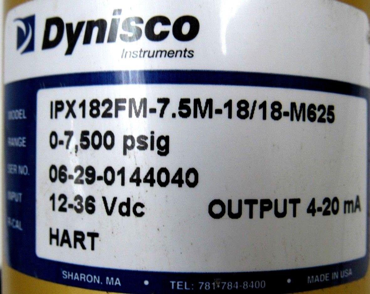 NEW DYNISCO IPX182FM-7.5M-18//18-M625 PRESSURE TRANSDUCER IPX182FM75M1818M625