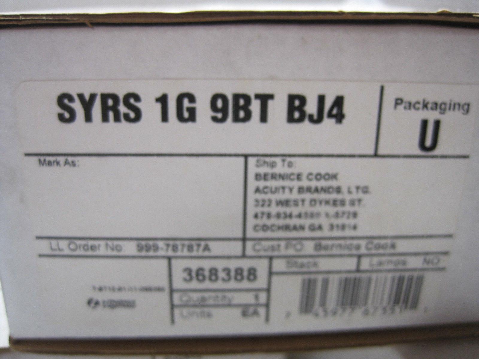 NEW LITHONIA LIGHTING SYRS-1G-9BT-BJ4 WALL STATION SYRS1G9BTBJ4