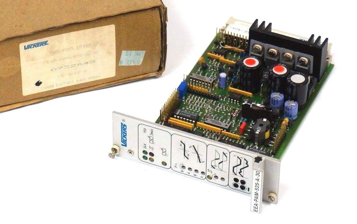 NEW VICKERS EEA-PAM-525-A-30 PWM AMPLIFIER CARD KD/TG4V-5 , 0732443