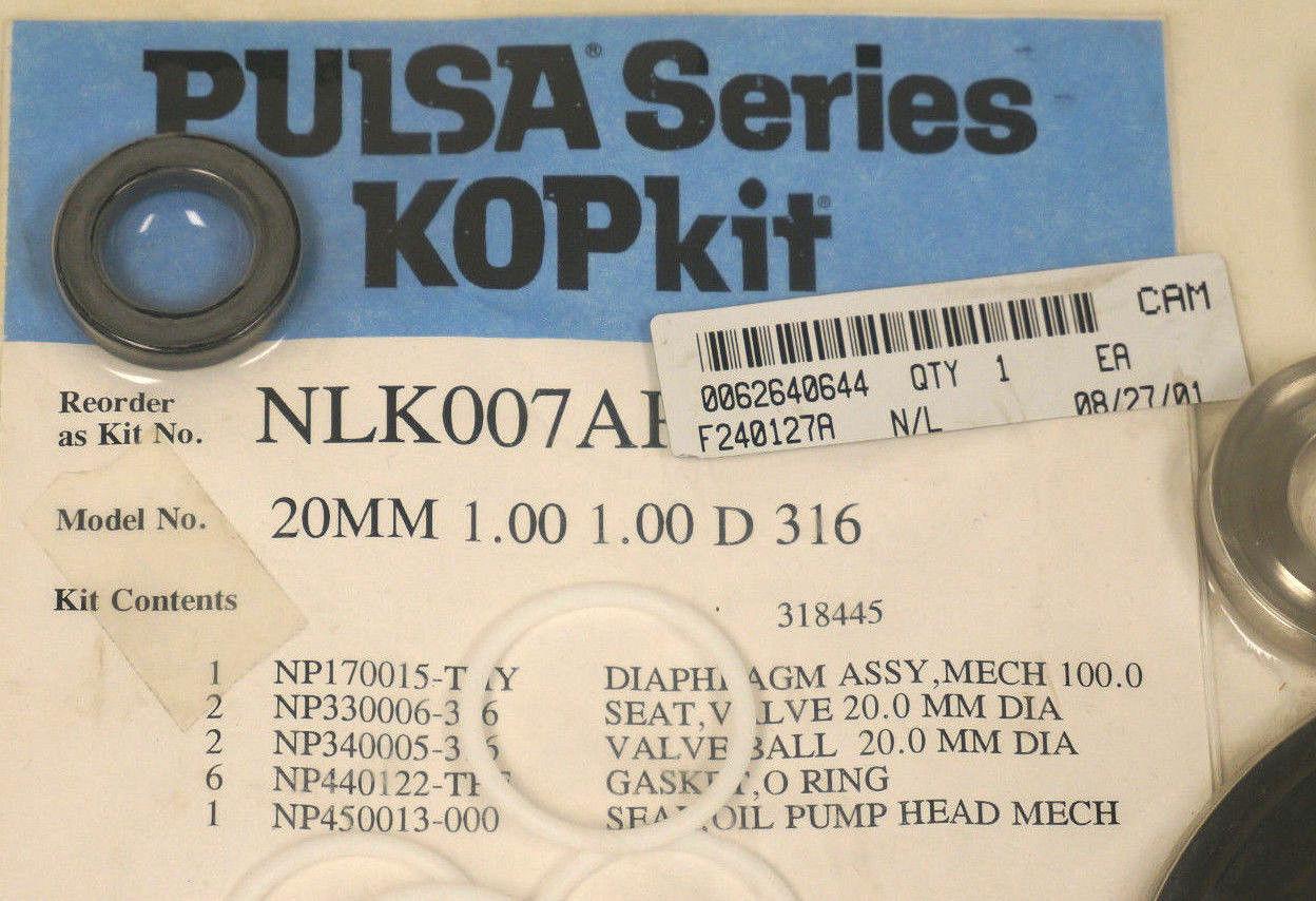 NEW PULSAFEEDER NLK007AP REPAIR KIT 20MM 1 00 1 00 D 316