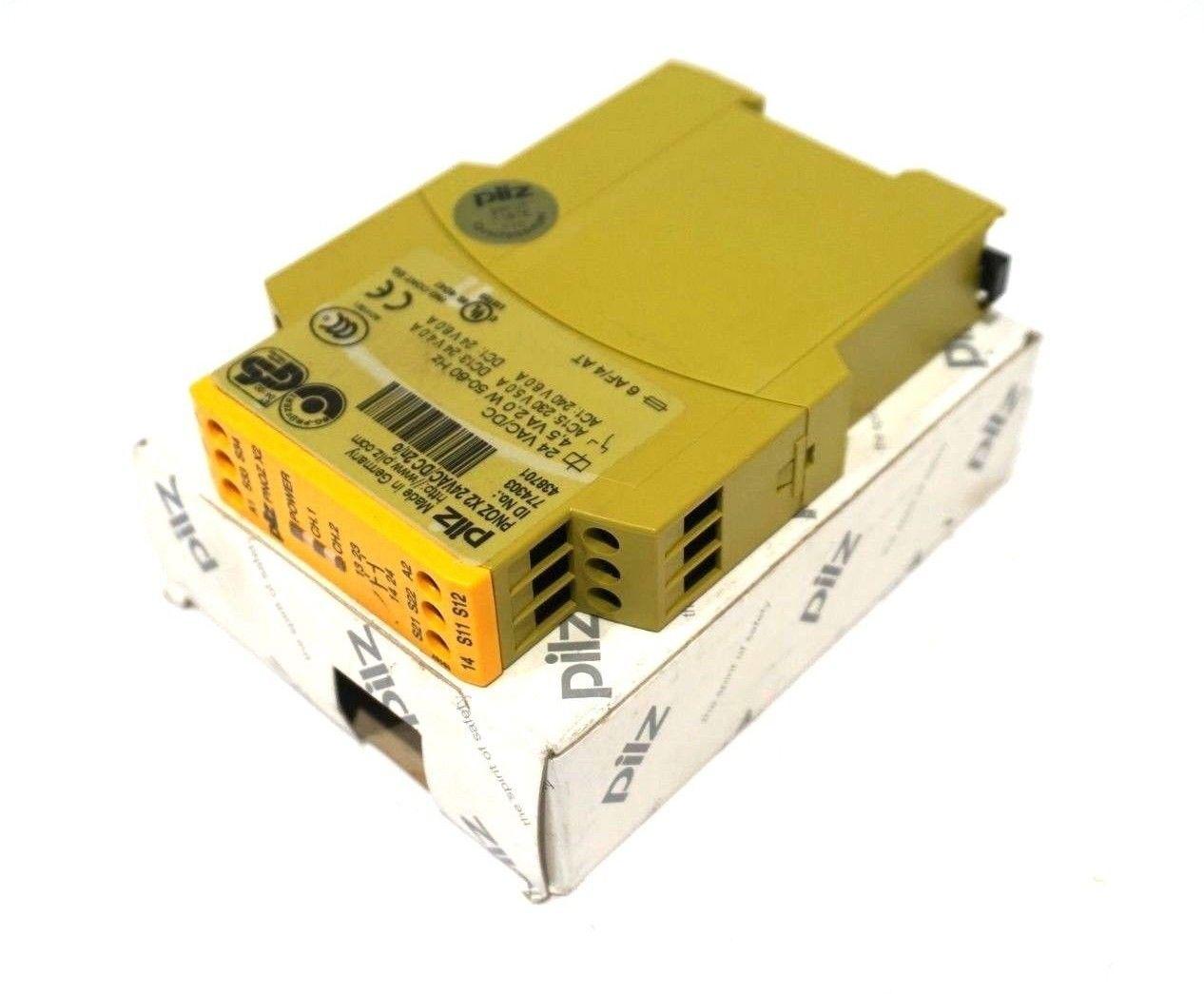 Safety Relay NEW 774303 Pilz PNOZ-X2-24VAC//DC-2n//o