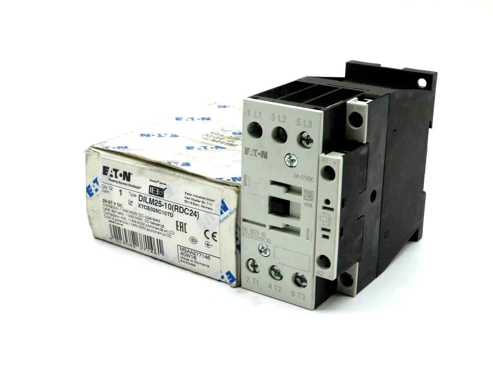 110V50Hz #F0 110V50Hz 1PC New EATON DILM25-10C DILM2510C