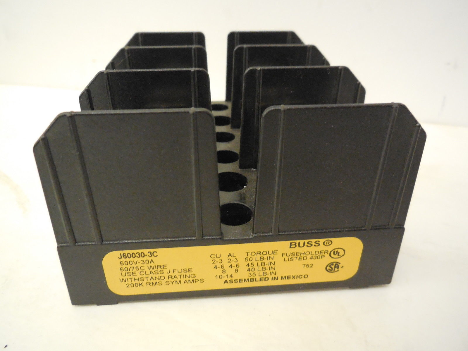Sb Industrial Supply Mro Plc Equipment Parts Bussmann Fuse Box New J60030 3c Block J600303c