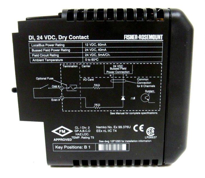 NEW FISHER ROSEMOUNT 12P0550X142 MODULE VE4001S2T2B2 8CH 24VDC DRY CONTACT