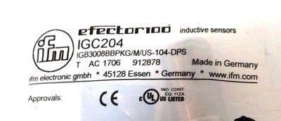 IFM Efector IGC204 Inductive Sensors