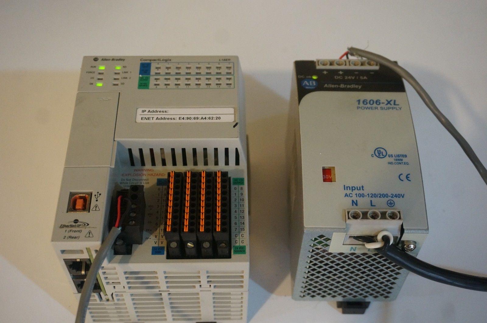 Allen Bradley 1769 L18er Bb1b Compactlogix Mfg 2014 Sb Industrial Supply Inc