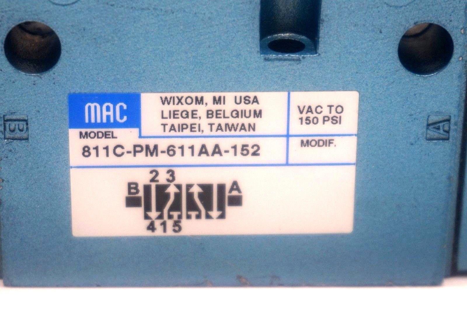 MAC VALVES INC 811C-PM-501JB-152 811CPM501JB152 BRAND NEW